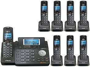 VTech DS6151-11 DECT 6.0 2-Line Expandable Cordless Phone + (7) DS6101-11 Accessory Handset, Black