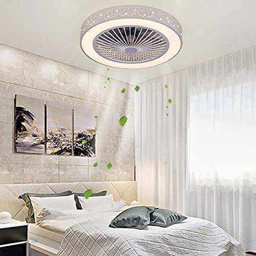 LANMOU Fan Deckenventilator mit Beleuchtung und Fernbedienung, Leise LED Ventilator Deckenlampe Dimmbar Unsichtbare Deckenventilator mit Licht für Schlafzimmer Wohnzimmer Kinderzimmer, 36W, Ø59cm