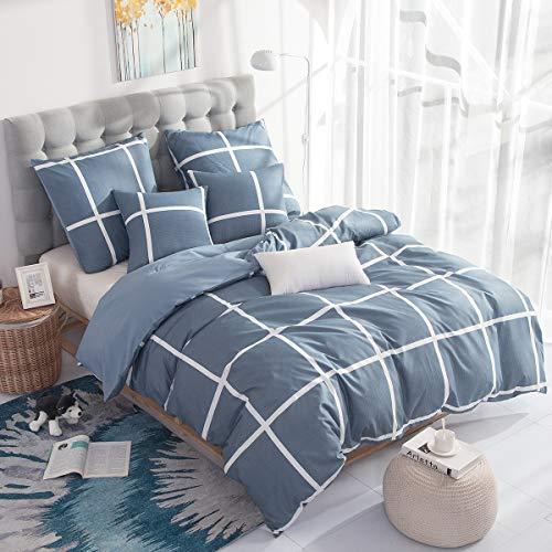 RUIKASI Bettwäsche 220x240 cm Blaues...
