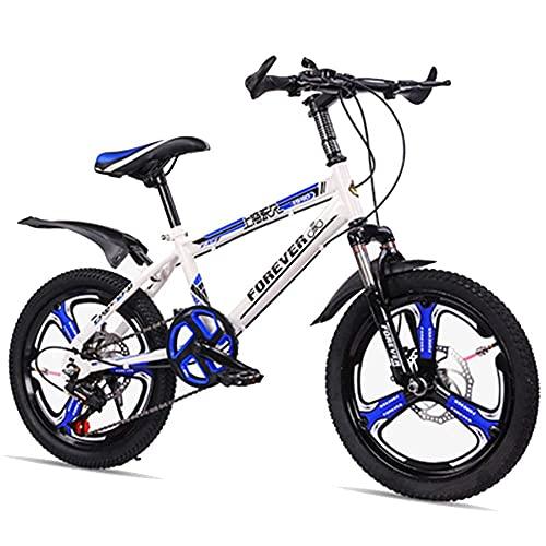 HUAQINEI Bicicleta para niños de 18/20 Pulgadas, Adecuada para niños de 7 a 14 años, Rojo, Blanco, Azul, Rosa