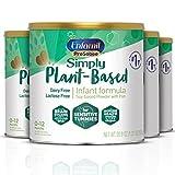 Plant based Baby Formula, 4 Powdered Cans, (20.9 Oz each), Enfamil ProSobee for Sensitive Tummies,...