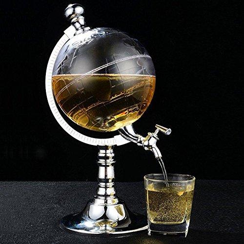Besplore Globus Stil Alkohol Dekanter für Bier Mini Bar Zubehör 52 OZ Flüssigkeit Trinken Separate Wein Werkzeuge Invertiert Weinregal Wasserpumpe Dispenser Maschine Von OAKZIP
