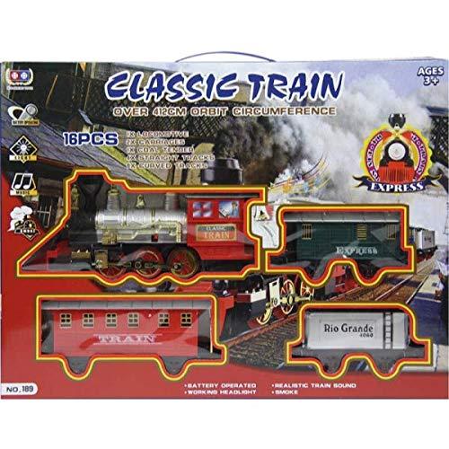 JUCSA Set Tren eléctrico c.3 vagones Luces, Sonidos y Humo. Classic Train
