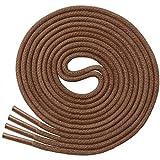 Miscly – Schnürsenkel für Anzugschuhe - Gewachst Rund Reißfest Dünn [3 Paar] – 100% Baumwolle - Ø 2.4 mm (76 cm, Braun)