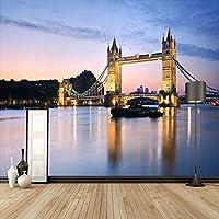 Djskhf カスタム3D壁画壁紙ヨーロッパスタイルロンドンブリッジ写真壁紙家の装飾リビングルーム寝室の背景壁紙ロール 400X280Cm