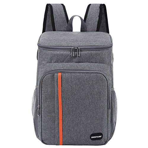 Sougayilang Cooler Backpack 25 Cans Lightweight Insulated Backpack Cooler Leakproof Soft Cooler Bag for Lunch Large Capacity for Men Women to Picnics, Camping, Hiking, Beach, Park--Gray