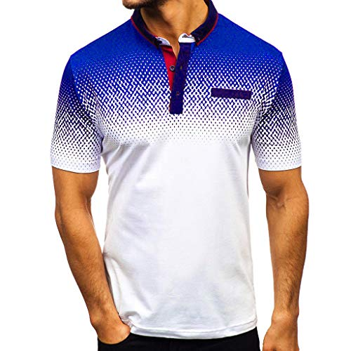Camisa para Hombre Manga Corta con Estampado Degradado Casual Deportiva Gimnasio Camiseta...