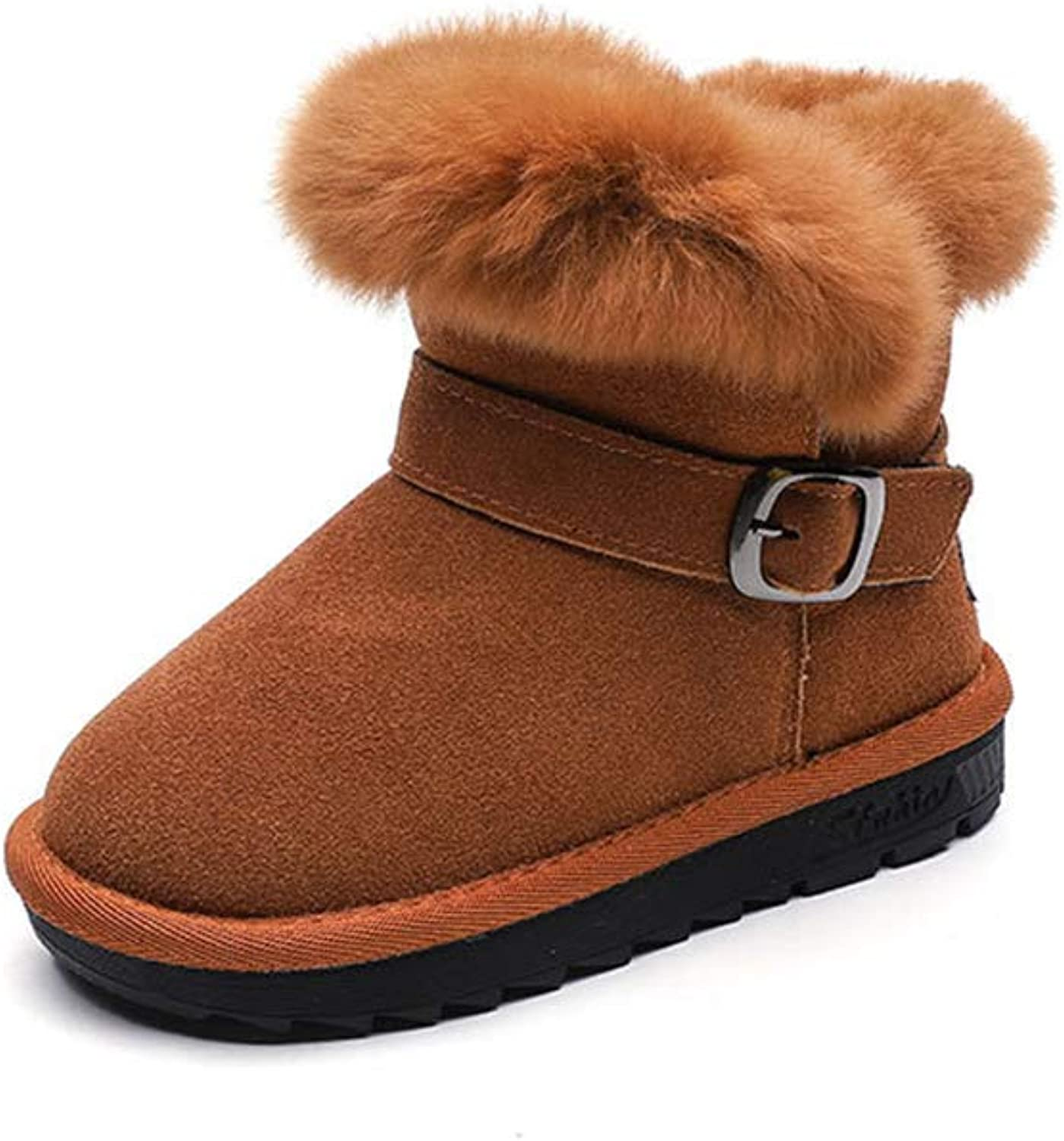 CHENSF Elastic Booties Thick with Ankle Boots Girl's Flat Martin Girl's Boots