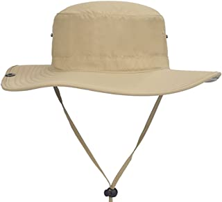 YSNRH Hat Men's Sun Hat, Adjustable Sun UV Protection Fishing Hat, Men's Riding Rock Climbing Cool Hat with Chin Band Camping,Outdoor,Hiking,Summer (Color : Khaki)