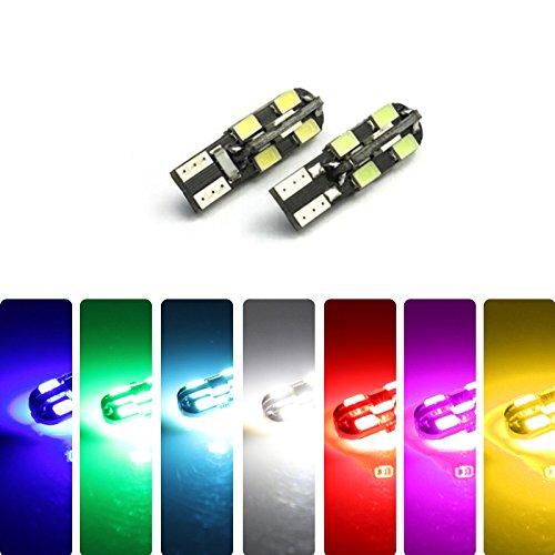 Feeldo DC 12 V T10 clignotant Feu 3528 CANBUS pas d'erreur de voiture côté lumière LED Lampe Ampoules 7-colors