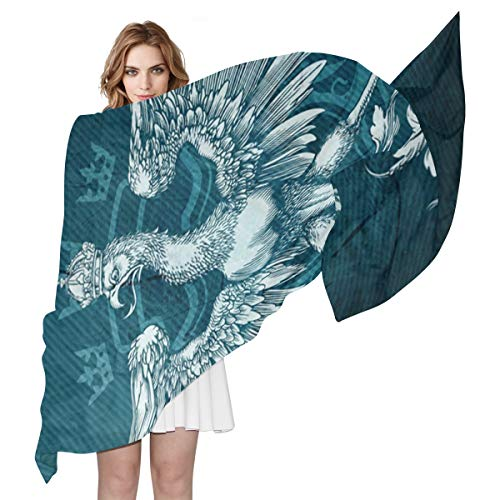 LUPINZ Vogel-Adler Zeichnung Muster Leichter Schal Damen Schal, Schal, weiche Schals und Wraps für Abendkleider/Hawaiian Urlaub