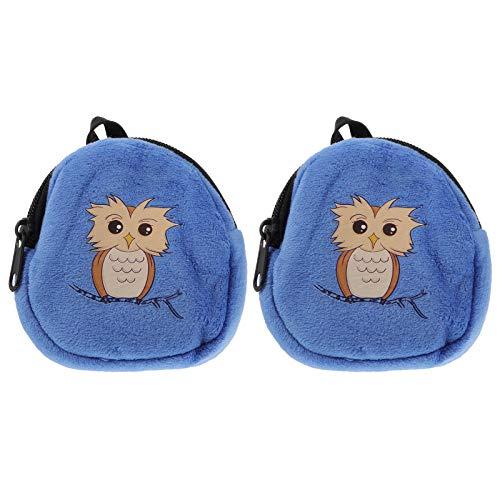 Lurrose 2pcs 18 pulgadas niñas muñeca mochila accesorios mini felpa muñeca cremallera bolsas