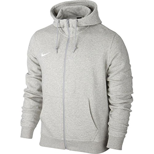 Nike Herren Sweatshirt Team Club Full Zip Kapuzenjacke, Grey Heather/White, M