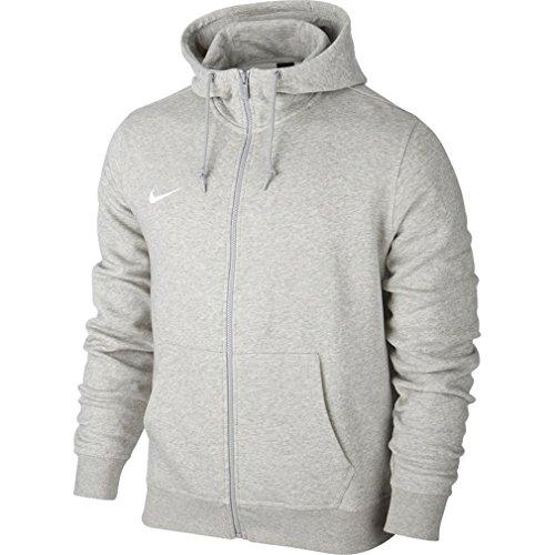 Nike Team Club Fz Hoody - Sudadera con capucha para hombre, color Gris (Grey Heather/Football White), talla S