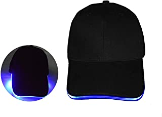 LED Hat Unisex Luminous Bling Baseball Led Cap Easily Adjustable for Hunting, Jogging, Angling Outdoor Night Sports & Parties