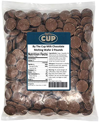 By The Cup Milk Chocolate Wafer Candy Melts 2 Pound Bag for Chocolate Fountain, Fondue Sets, Molds and More