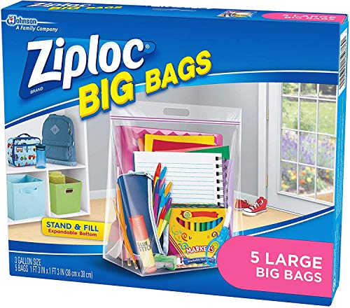 Ziploc Big Bag Large Double Zipper - 5 Ct - 2 Pk