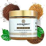 Gods & Grit Aurora Arabica Coffee Scrub | Cafe Mocha Exfoliating Body Scrub & Hydrating Face Scrub with Coffee Grounds & Caffeine | Skin Care Body Scrubs for Men & Women Exfoliation (16 oz)