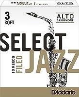 CAムAS SAXOFON ALTO - DエAddario Rico (Select Jazz) Filed (Dureza 3 SUAVE) (Caja de 10 Unidades)