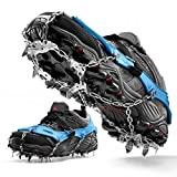 ETROL Crampons Ice Cleats Traction Grip for Boots Shoes Women Men Kids Anti Slip 16 Microspikes Safe Protect Walking for Snow and Ice Hiking Jogging Mountaineering Ice Climbing (1 Pair)