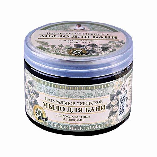 Schwarze Seife für Sauna von Oma Agafja 500 ml Черное мыло для бани от Агафьи 37 Трав