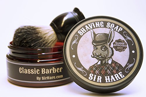 Old Fashioned Shaving Soap for Men By Sir Hare - Barbershop Fragrance - Tallow Shave Soap That...