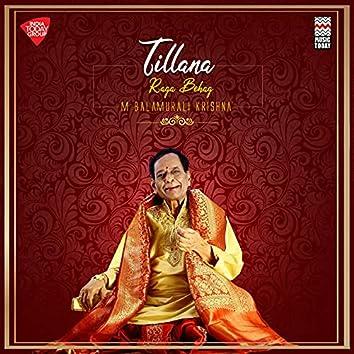 Tillana - Raga Behag