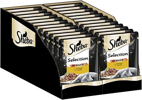 Sheba Katzenfutter Nassfutter Selection in Sauce mit Geflügel, 24 Beutel (24 x 85 g)