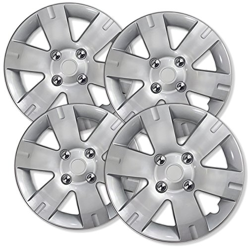 15 inch Hubcaps Best for 2006-2018 Ford Focus - (Set of 4) Wheel Covers 15in Hub...