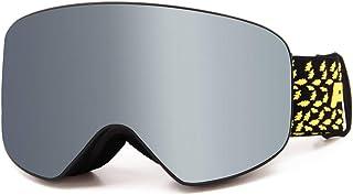 Yxx max Gafa Deportiva Gafas de esquí Gran Campo de visión Gafas de esquí Profesionales para Hombres y Mujeres Gafas antivaho Dobles para Adultos