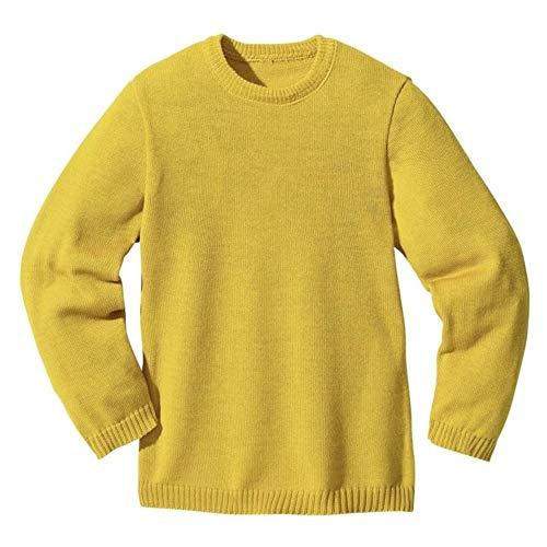 Disana Jersey básico, 100% lana virgen de merino orgánico. amarillo curry 86 cm/92 cm