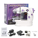 Mini Sewing Machine for Beginner Kids Portable Multi-function Electric Small Household Sewing Machines Compact Handcraft Handheld 2-Speed Sewing Embroidery Machine for Home Travel Ideal Gift