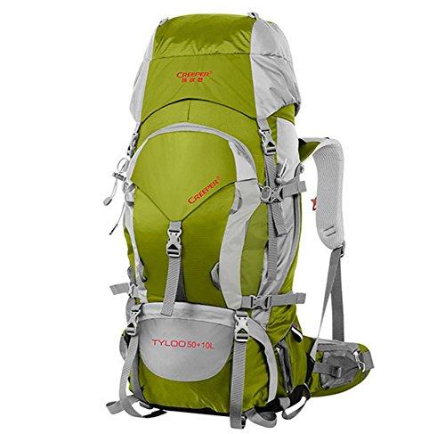 60L randonnées plein air sac à dos Pack sac à dos étanche épaule sacs pour hommes et femmes à pied Pack , dark gold 60 liters