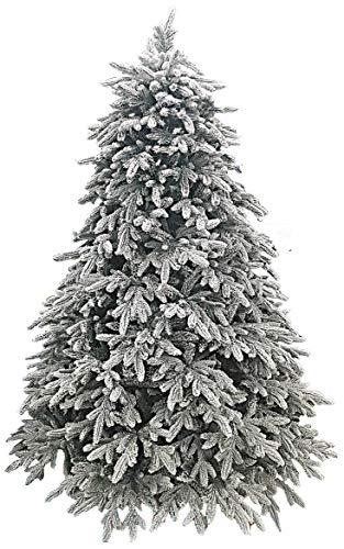 manieri Albero di Natale Artificiale Innevato 240 cm 4496 Rami Pino Glitter Ice Floccato