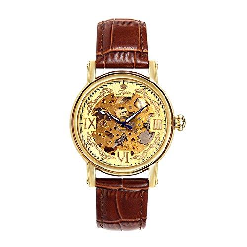 HWCOO Damenuhren Pratum Nudel-Kürbis-Kopf-automatische Hohle mechanische Uhr-automatische Gurt-mechanische Uhr (Color : 1)