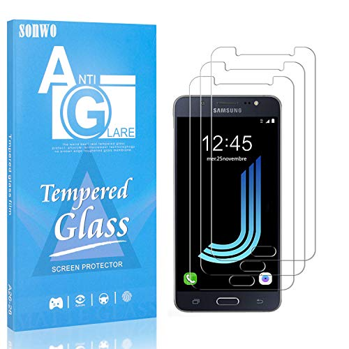 3 Pièces Verre Trempé pour Galaxy J5 2016, SONWO HD Ultra Transparent Protection écran pour Samsung Galaxy J5 2016, Anti Rayures
