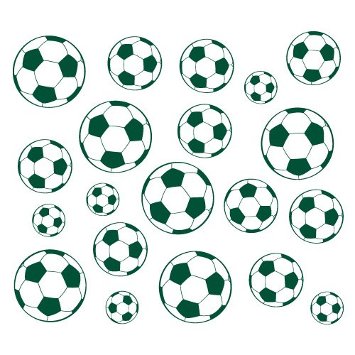 sticker ballons couleur Vert anglais - Taille 120x106 cm