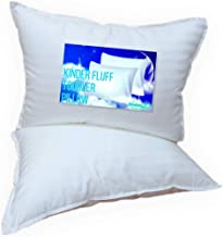 Kinder Fluff Toddler Pillow (2pk)- The only Pillow with 300T Soft Cotton & Down Alternative Fill. Hypoallergenic & Machine...