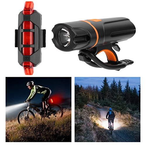 Eosnow Luz Trasera para Bicicleta, luz Trasera para Bicicleta de montaña versátil Recargable para Trotar para Acampar