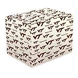 NCAA Virginia Tech Hokies White Gift Wrap Paper
