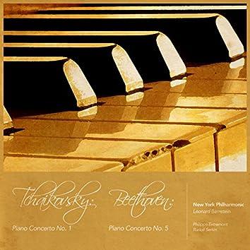 Tchaikovsky: Piano Concerto No. 1 - Beethoven: Piano Concerto No. 5