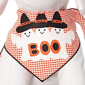 Tail Trends Halloween Dog Bandanas with 3 Ghosts Boo! Design fits Medium to Large Sized Dogs – 100% Cotton…