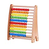 Wondertoys Wooden Abacus Educational Counting Toy 100 Beads Math Tool Toddler Gifts for Boys and Girls