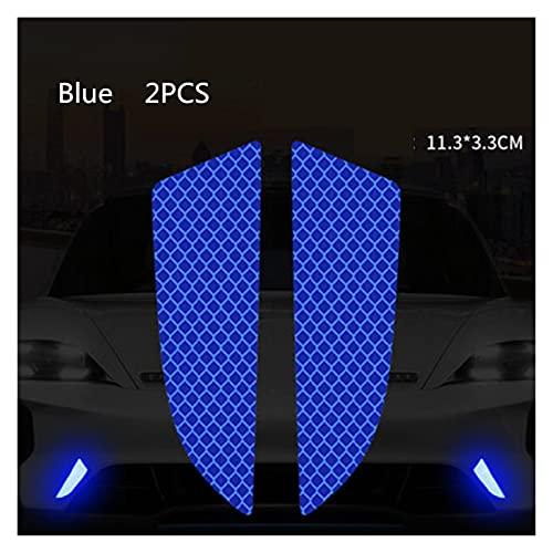 HUANGRONG 6 unids/Set Reflector Cinta Reflector Protectora Protectora Pegatina rasguños de Seguridad Advertencia reflexivo Auto Pegatinas acesorio Coche (Color : Blue)