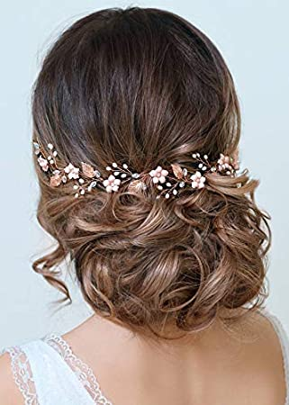 Hair Bracelet wedding Ceremony Pearls Ribbon