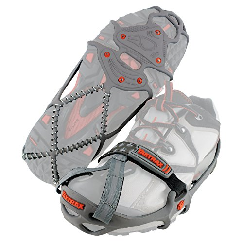 Yaktrax Run Traction Cleats for Running on Snow and Ice (1 Pair), Small (Renewed)