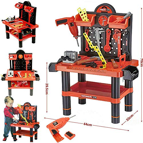 NL SI © Childrens Tool Bench Play Set Work Shop Electronic Drill Kit Kids Workbench Toy