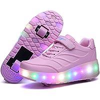 Led Luces Zapatos con Ruedas Dobles para Pequeños Niños y Niña Automática Calzado de Skateboarding Deportes de Exterior Patines en Línea Brillante Mutilsport Aire Libre y Deporte Gimnasia Zapatillas