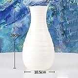 LYPYY Origami jarrón de plástico Blanco lechoso imitación Maceta de cerámica Cesta de Flores florero decoración decoración del hogar, 3500, lechoso
