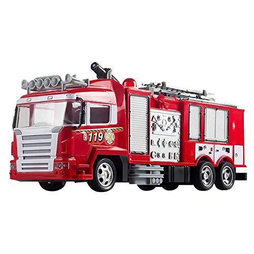Moerc RC Fuego Camión de bomberos 2.4G Control remoto Fuego Motor de fuego Camión de rescate Vehículo de fuego eléctrico 360 ° Rotación de agua Jet de agua removible Escalera Ciudad Ciudad de la acció